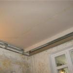 Как зашпаклевать бетонный потолок