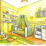 Рациональный интерьер детской комнаты «На вырост»