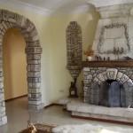 Камин и печь в загородном доме