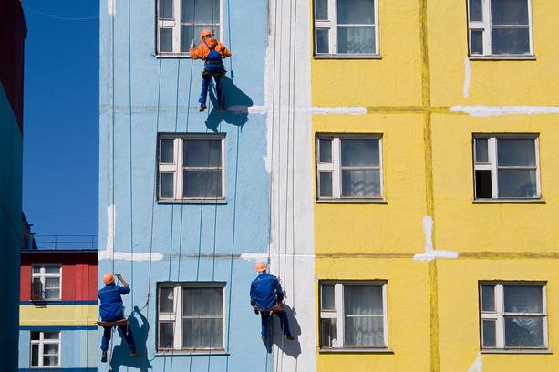 Покраска фасадов при ремонте