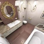 Как визуально увеличить ванную?