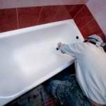 Установка чугунной ванны в квартире