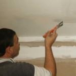 Предварительная подготовка потолка