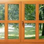 Стеклопакет в деревянном окне