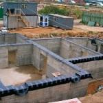 Постройка фундамента для нового дома