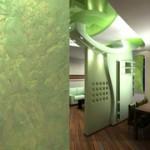 Установка декоративной стены
