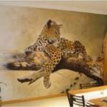 Рисунки на стенах вместо обоев