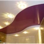 Установка освещения в натяжном потолке