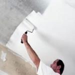 Технология покраски потолка
