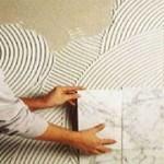 Наклейка кафеля своими руками на стены