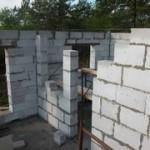 Строительство коттеджа из газобетонных блоков
