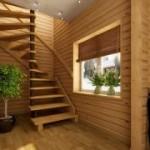 Установка лестницы на тетивах