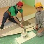 Перестилка и ремонт линолеума