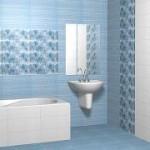 Наклейка керамической плитки в ванной