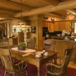 Материалы для гостиной в доме из дерева