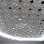 Наклейка потолочной плитки самому