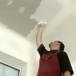 Как шпаклевать гипсокартонный потолок?