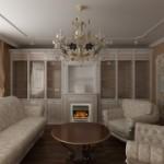Дизайн гостиной в современной классике
