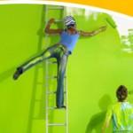 Малярные работы — красим потолок и стены
