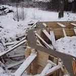 Установка винтовых свай в зимний период