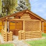 Возведение деревянной беседки для дачи