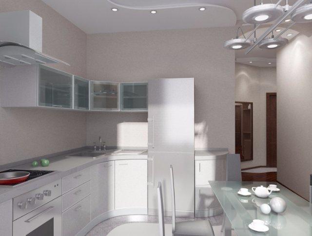 Стиль кухни в светло-металлических оттенках