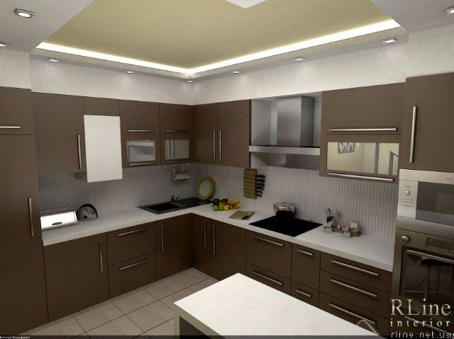 Кухня в шоколадном стиле