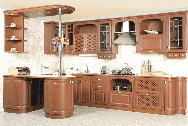 Дизайн кухни из светлого дерева
