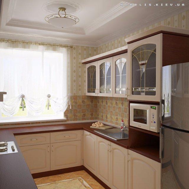 Дизайн простой кухни в хрущевке