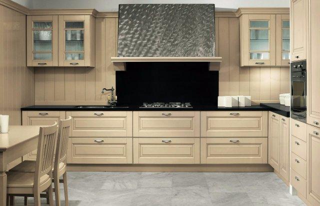 Очень красивый дизайн светлой кухни