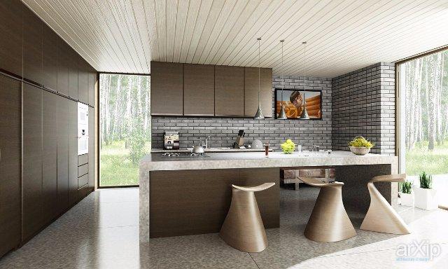 Интерьер кухни из природного камня