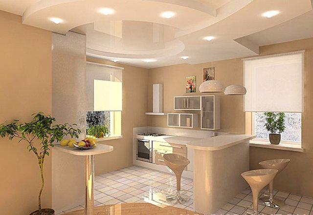 Дизайн интерьера кухни в тропическом стиле