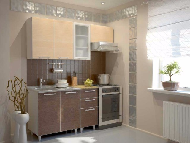 Дизайн кухни-малютки