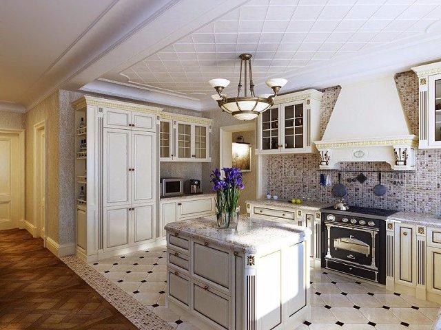 Дизайн интерьера кухни в стиле винтаж