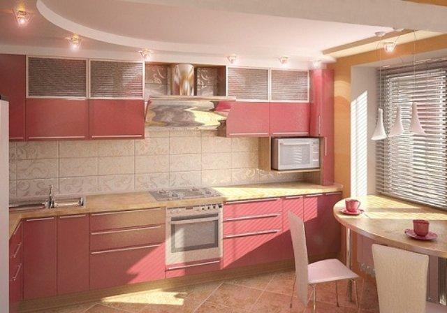Дизайн интерьера кухни в теплых тонах