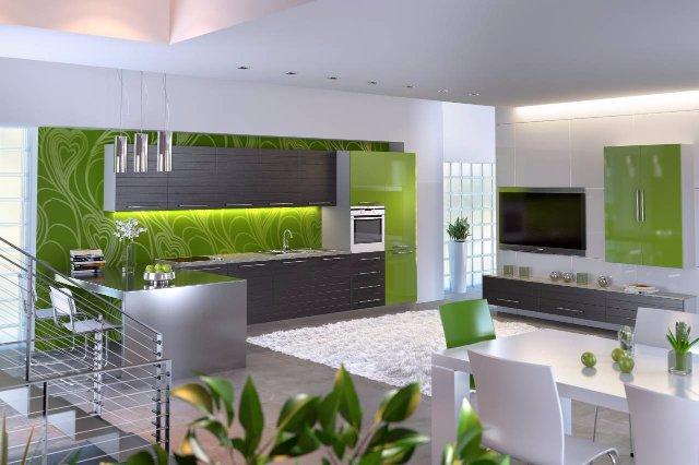 Как оформить интерьер большой кухни