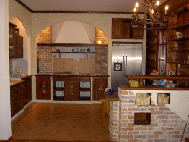 Средневековый интерьер кухни