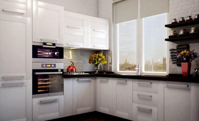 Дизайн интерьера кухни в белых тонах