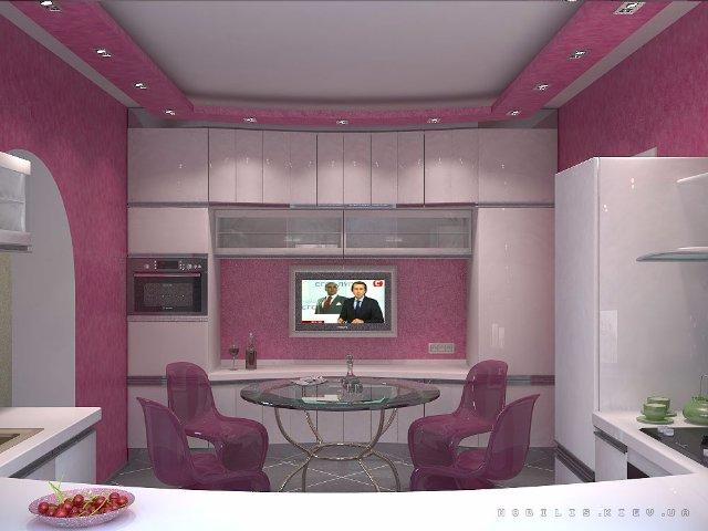 Как сделать из фиолетовой кухни оригинальный интерьер