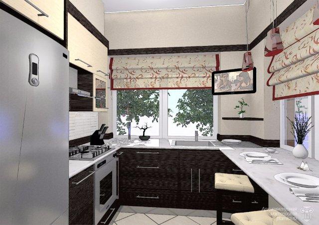 Концепт дизайна интерьера кухни
