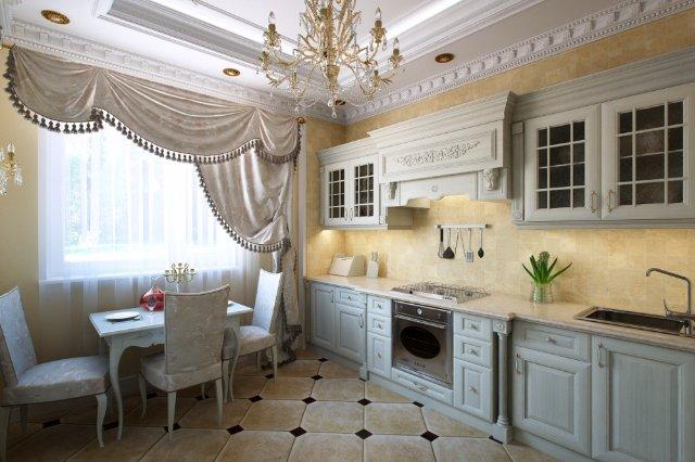 Дизайн интерьера королевской кухни
