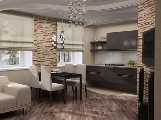 Кухня полностью выполненная из камня