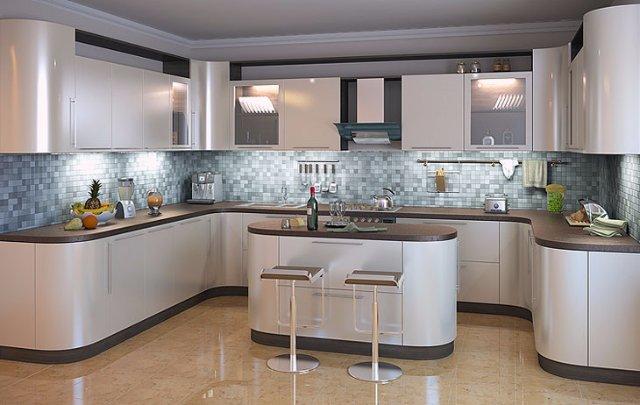 Кухня в стиле металлик