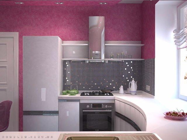 Такая фиолетовая кухня понравится каждому