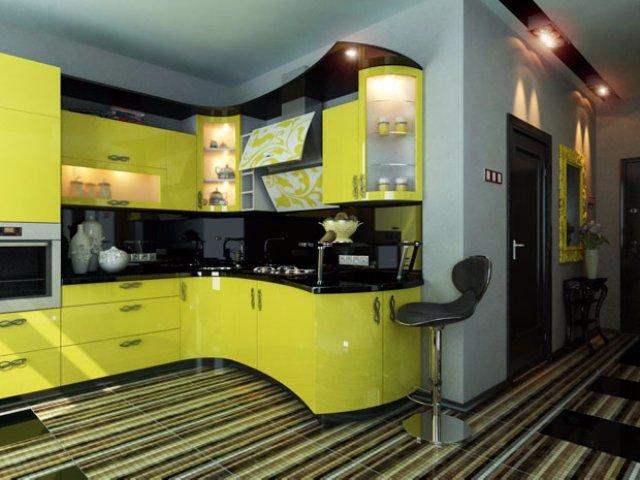 Дизайн футуристичной кухни