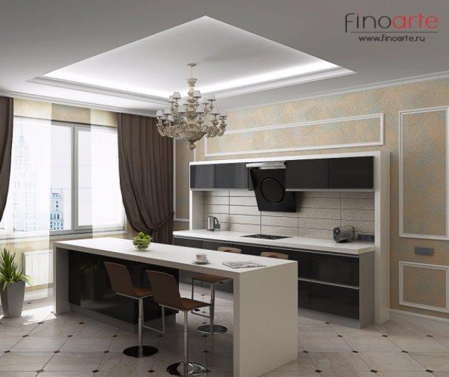 Вычурный дизайн кухни