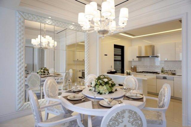 Интерьер кухни-столовой для людей с достатком