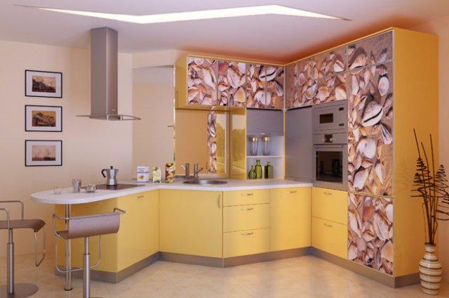 Дизайн кухни с морским оформлением