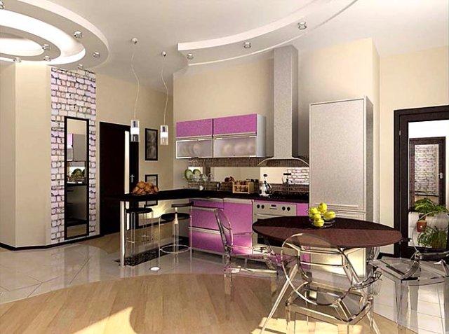 Дизайн кухни со столовой зоной