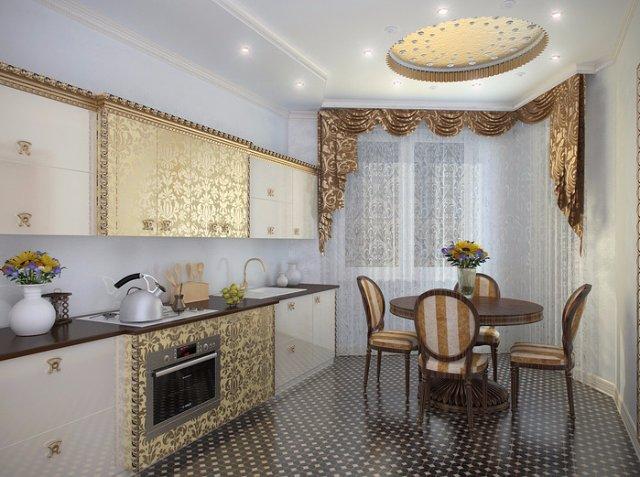 Красивая кухня в стиле арт-деко
